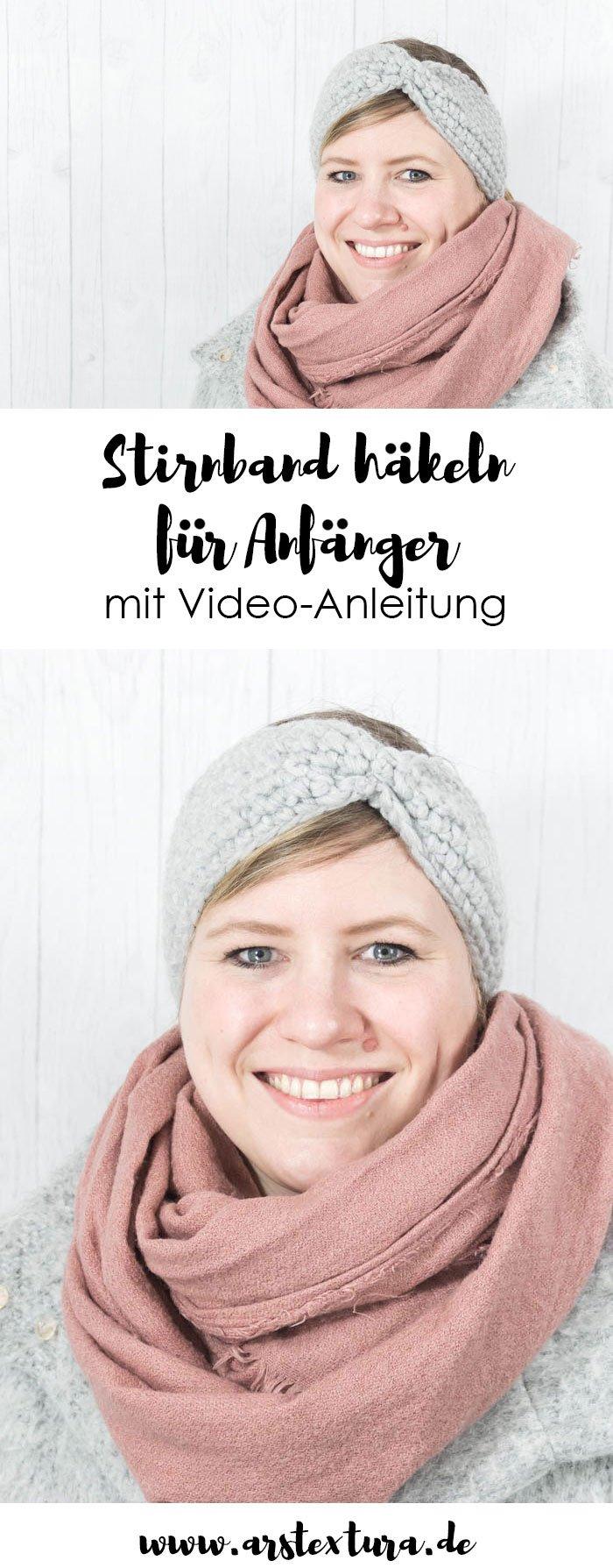 Häkeln Anleitung: Einfaches Stirnband häkeln für Anfänger mit Video-Anleitung | Stirnband selber machen | DIY Geschenk zu Weihnachten | ars textura - DIY-Blog