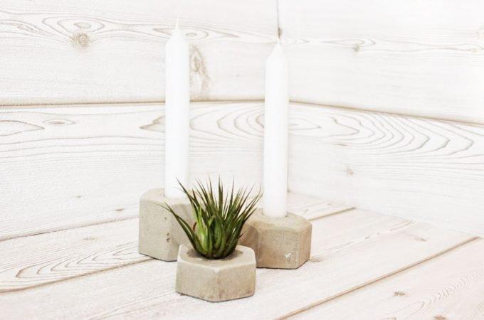 DIY Beton Kerzenständer