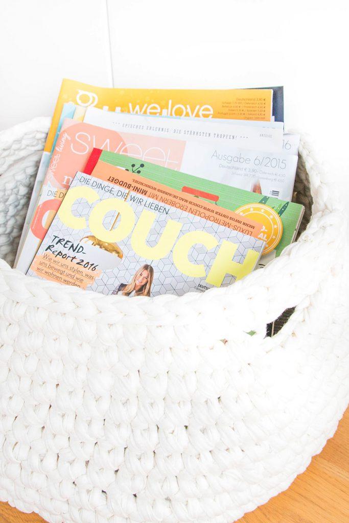 Zeitschriftenkorb häkeln Anleitung
