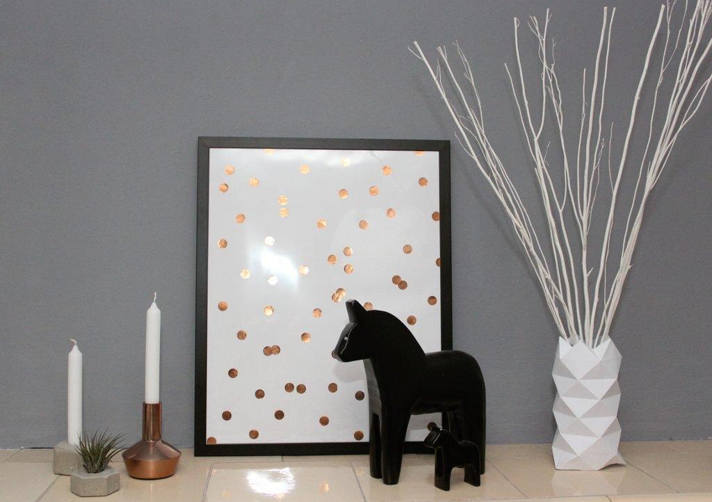 Diy bild mit p nktchen in kupfer ars textura diy blog - Kupfer deko ikea ...