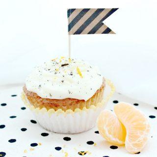 Weihnachtliche Orangen-Vanille Cupcakes