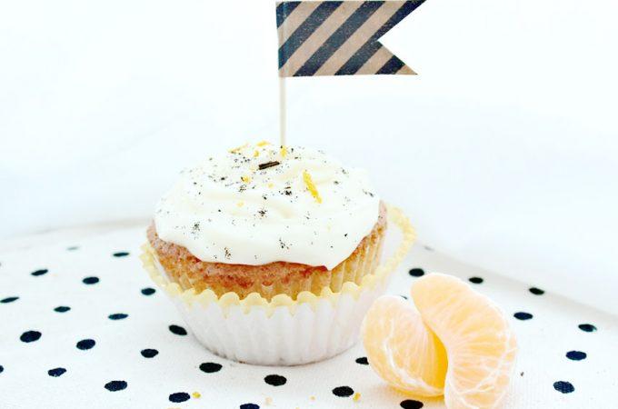 Winterliche Orangen-Vanille Cupcakes