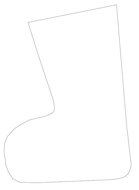 Nikolaus Stiefel aus Stoff und Papier nähen