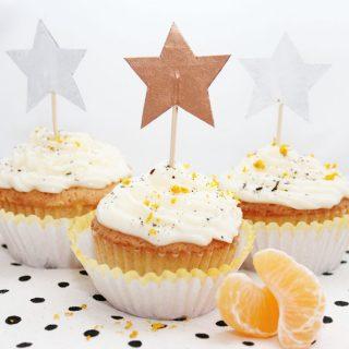 Cupcake Verzierung aus Wellpappe basteln