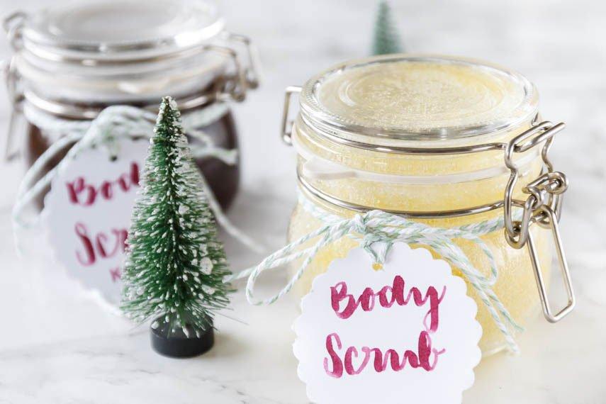 DIY Peeling mit Salz und Olivenöl selber machen - ein tolles DIY Geschenk