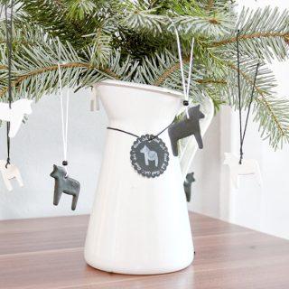 Weihnachtsbaum Anhänger aus Fimo