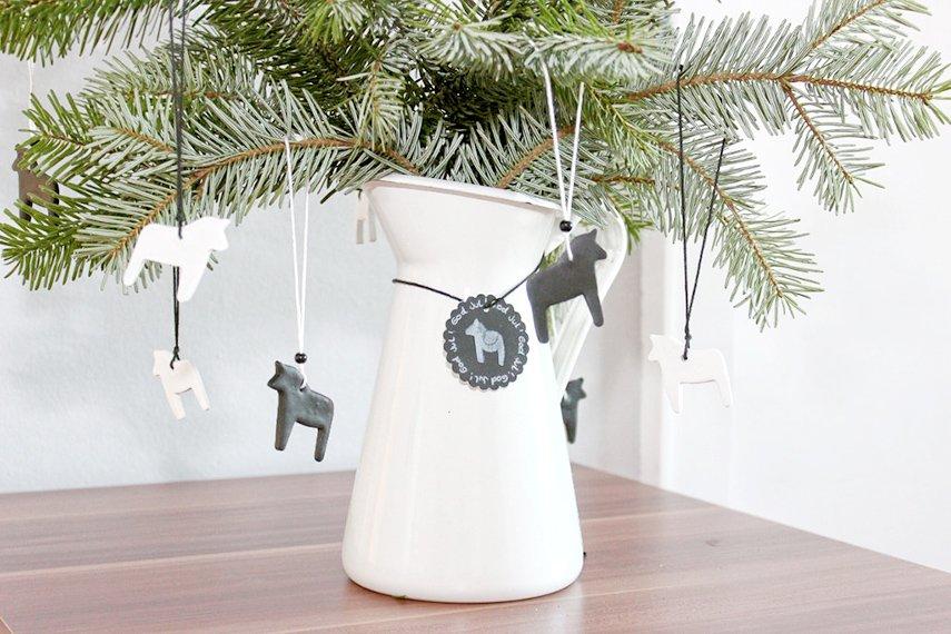 Weihnachtsbaumanhänger aus Fimo basteln