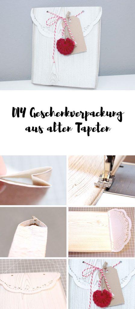 DIY Geschenktüten aus Tapenresten basteln - alte Tapeten upcycling