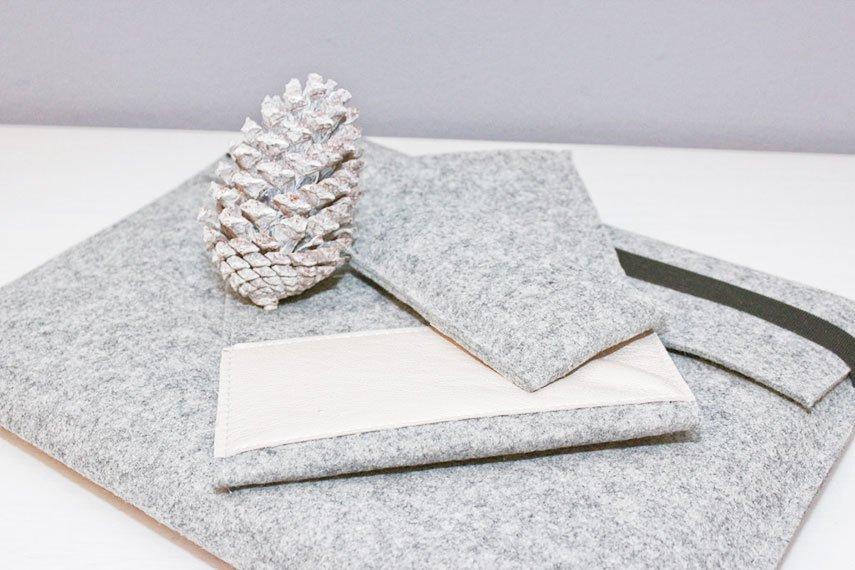 DIY Männergeschenke - schlichte Laptop und Handy Taschen nähen