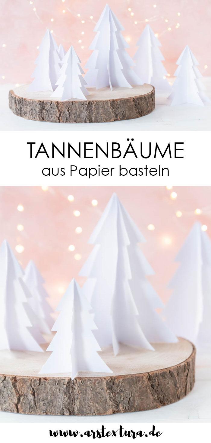 Tannenbäume aus Papier basteln