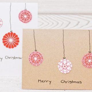 Weihnachtskarten aus Stoffresten
