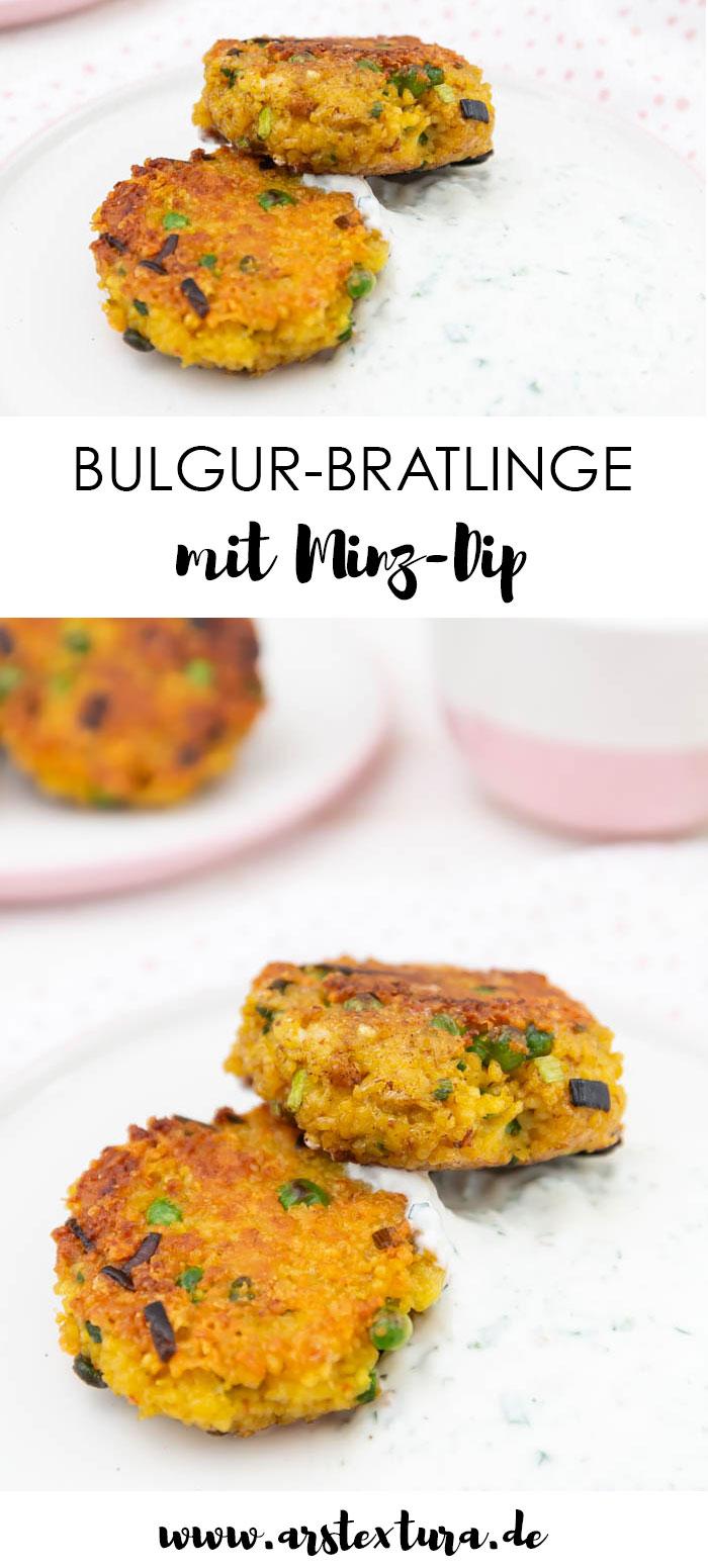 Vegetarische Bulgur-Bratlinge mit Minz Dip
