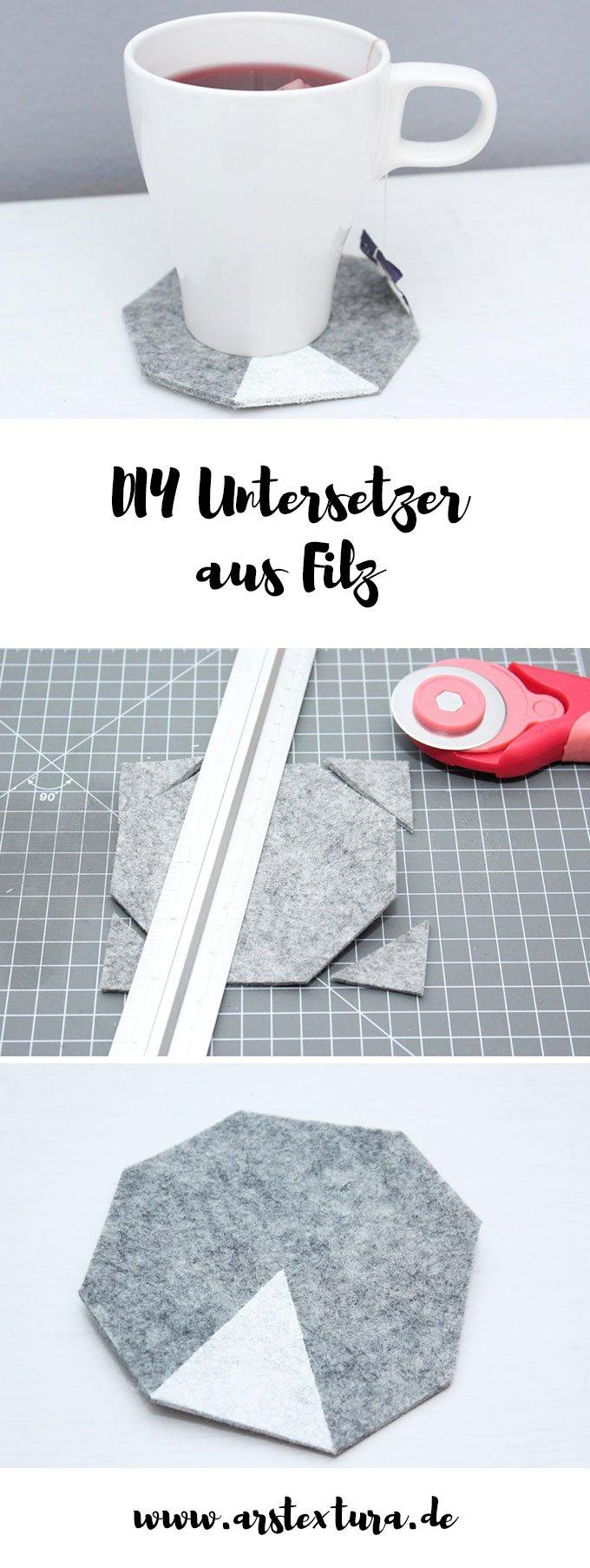 DIY Untersetzer aus Filz