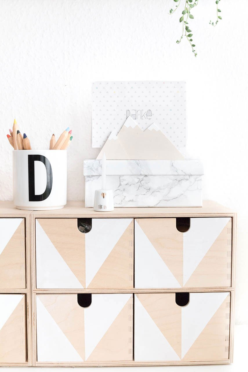 Ikea Hack - Moppe mit geometrischem Muster gestalten