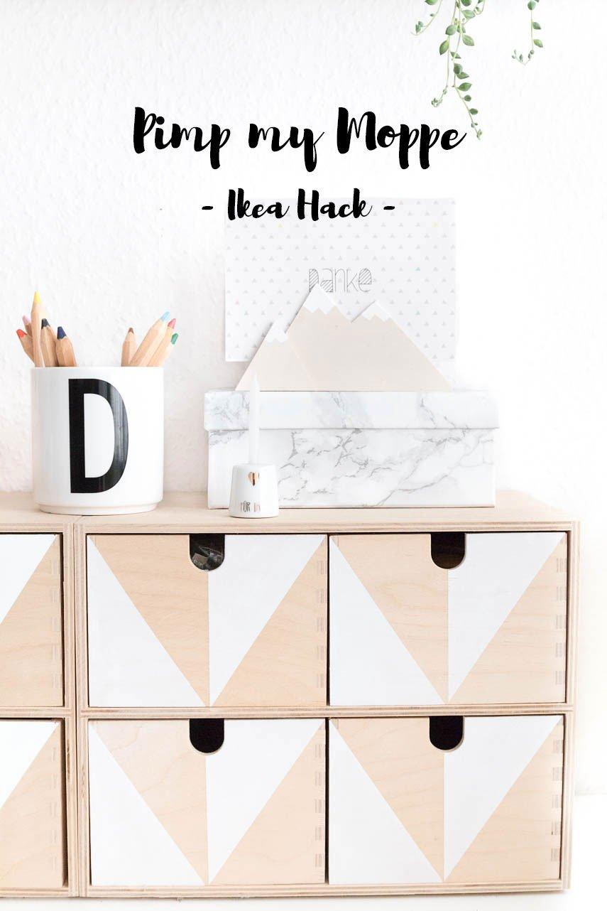 Mach aus deiner Moppe Kommode von Ikea ein Designerstück und gestalte sie mit Acrylfarbe