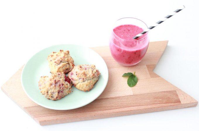 Frühstücks-Scones und Beeren-Smoothie… ein paar Vitamine gegen die Grippewelle