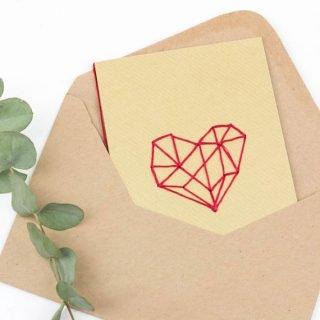 Karten zum Valentinstag basteln