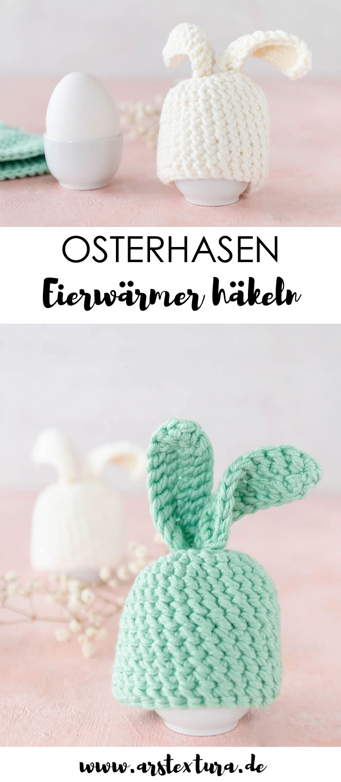Ostern Dekoration: Osterhasen Eierwärmer häkeln