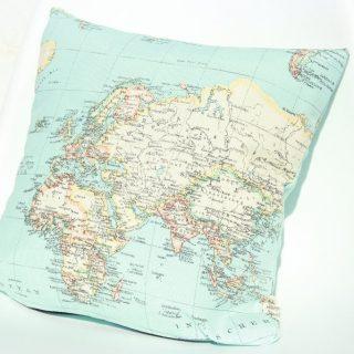 Weltkarte Kissen