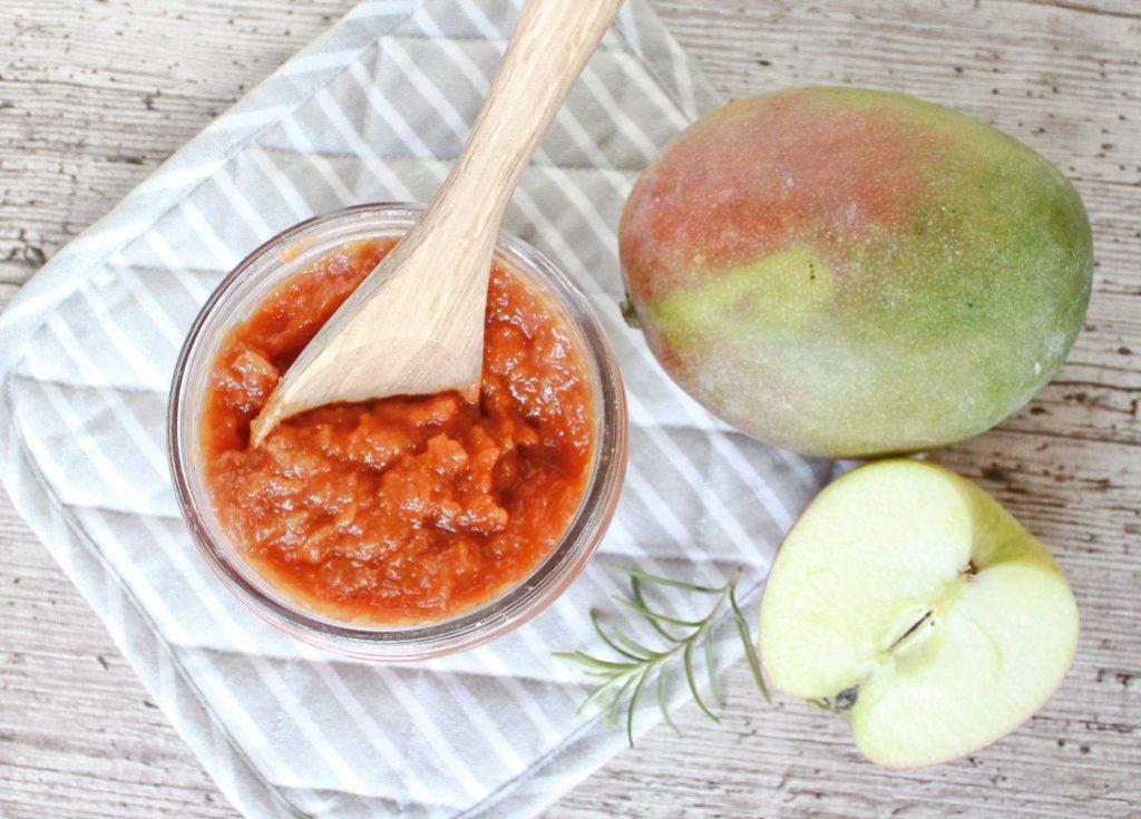 Apfel-Mango Barbecue Sauce