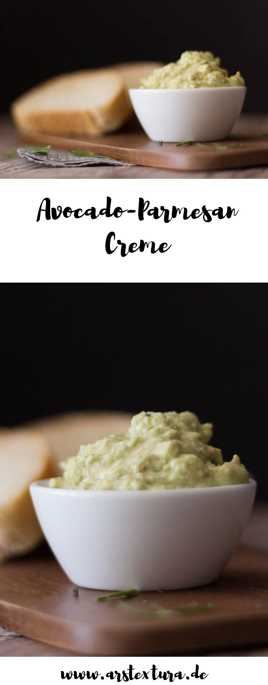 Avocado-Parmesan Creme ein toller Dip, Brotaufstrich und Beilage für die Grillparty