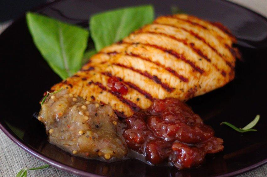 Grillfleisch mit Chutney