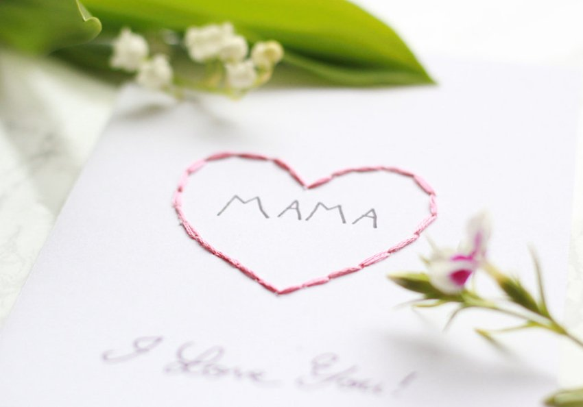 Karte zum Muttertag basteln