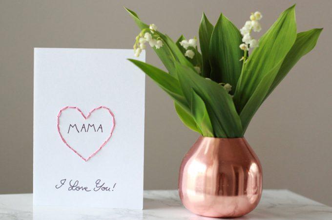 DIY Karte zum Muttertag und Maiglöckchen