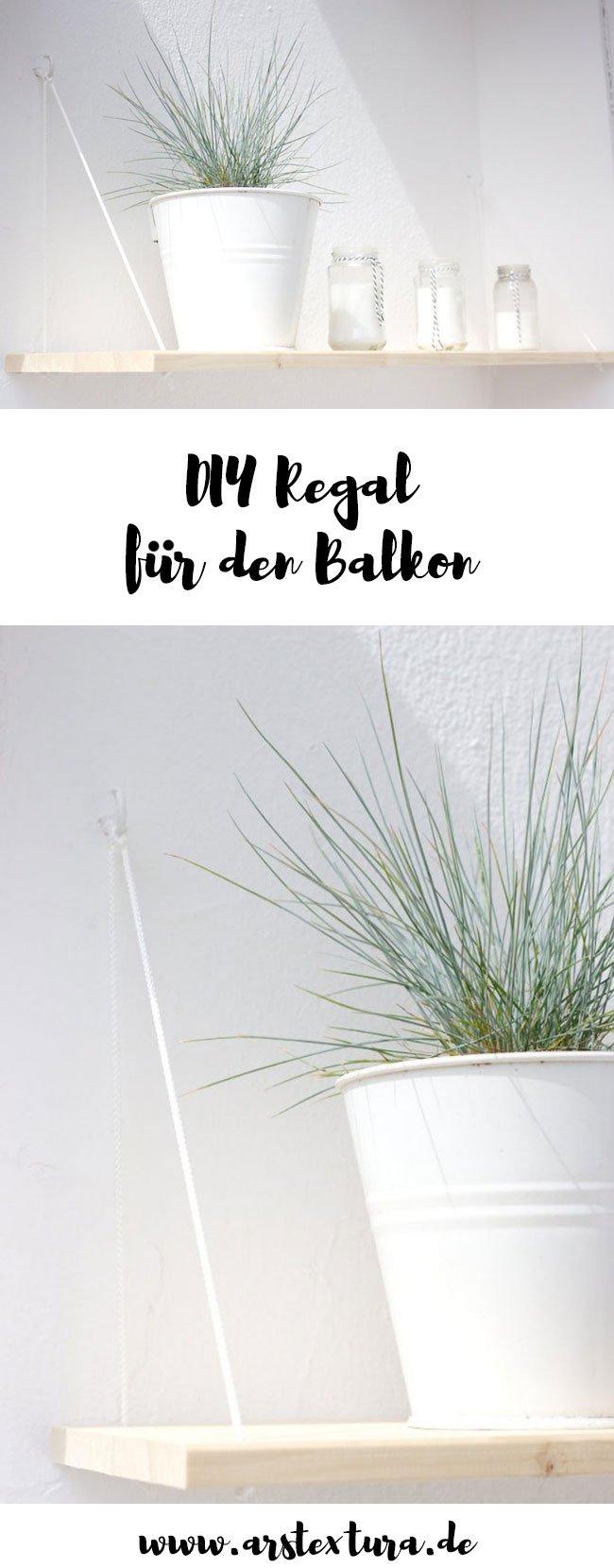 DIY Regal aus Holz für den Balkon - Hängeregal mit Anleitung