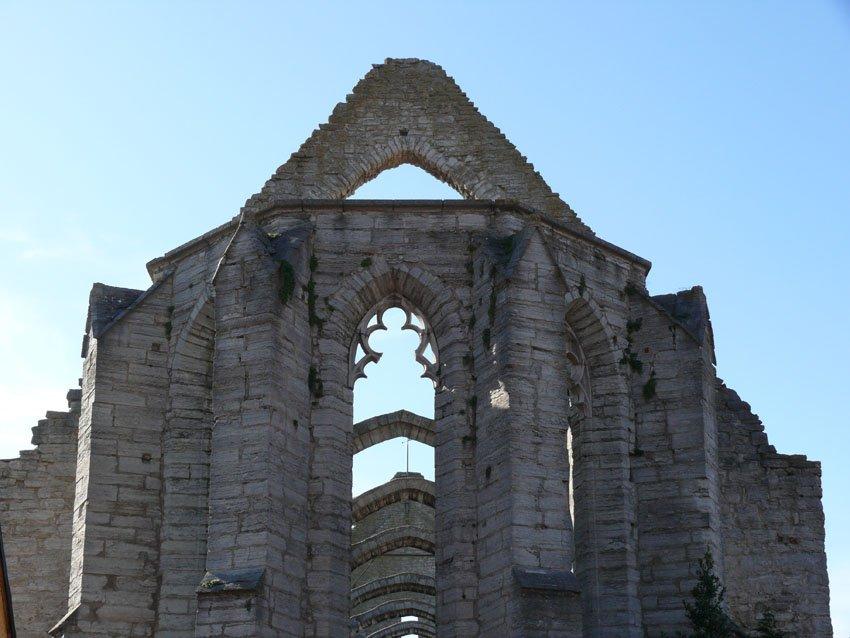 Kirchenruine auf Gotland in Visby