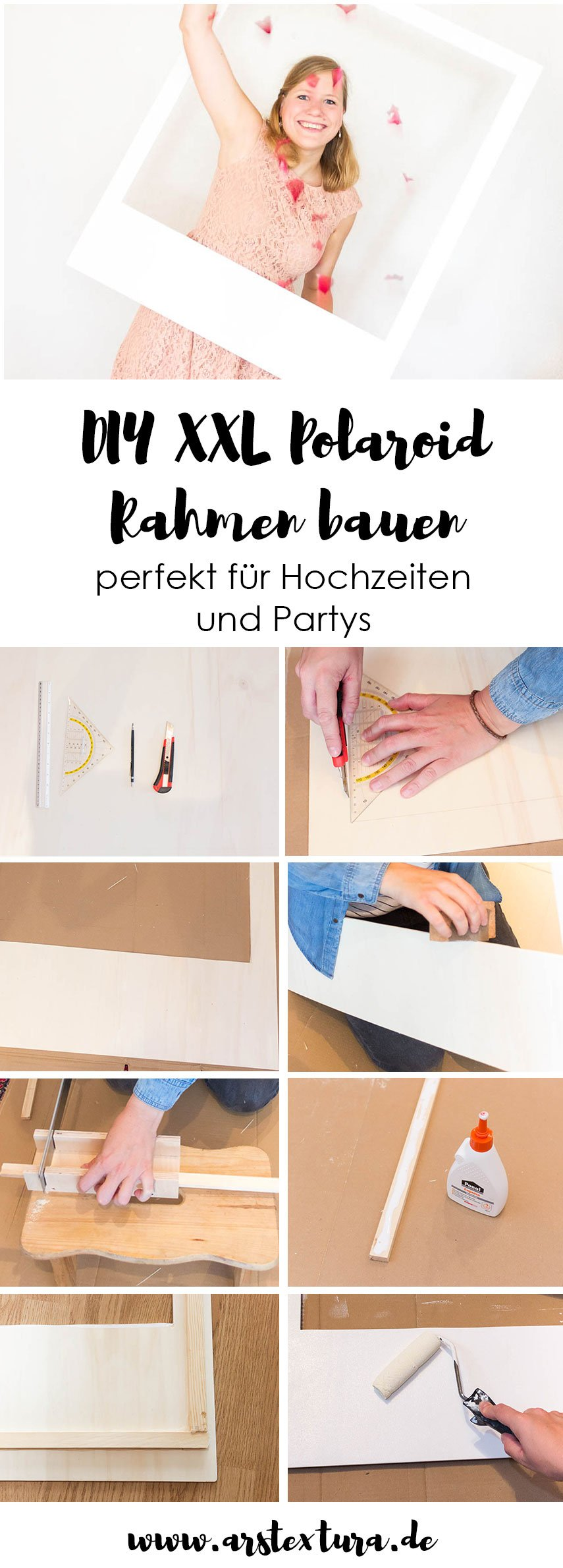 diy bilderrahmen f r die fotobox auf deiner hochzeit ars textura. Black Bedroom Furniture Sets. Home Design Ideas