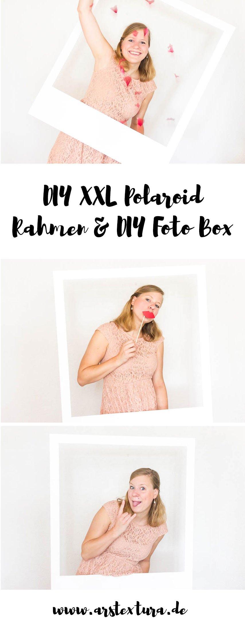 DIY Fotobox - XXL Polaroidrahmen für deine Hochzeit