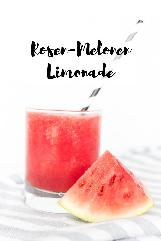 Rosen-Melonen-Limonade selber machen - ein erfrischender Sommerdrink ohne Alkohol
