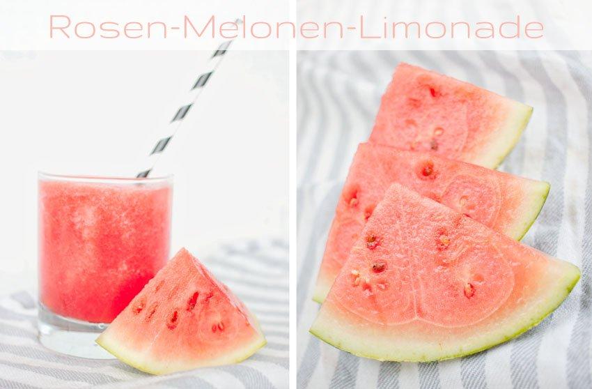 Rosen-Melonen-Limonade – Urlaubsfeeling für zu Hause