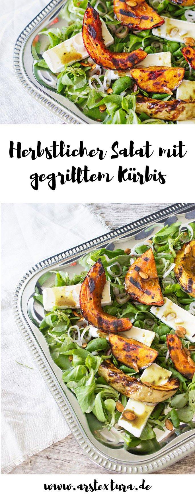Kürbis Rezept: Salat mit gegrilltem Kürbis - ein tolles Herbstrezept