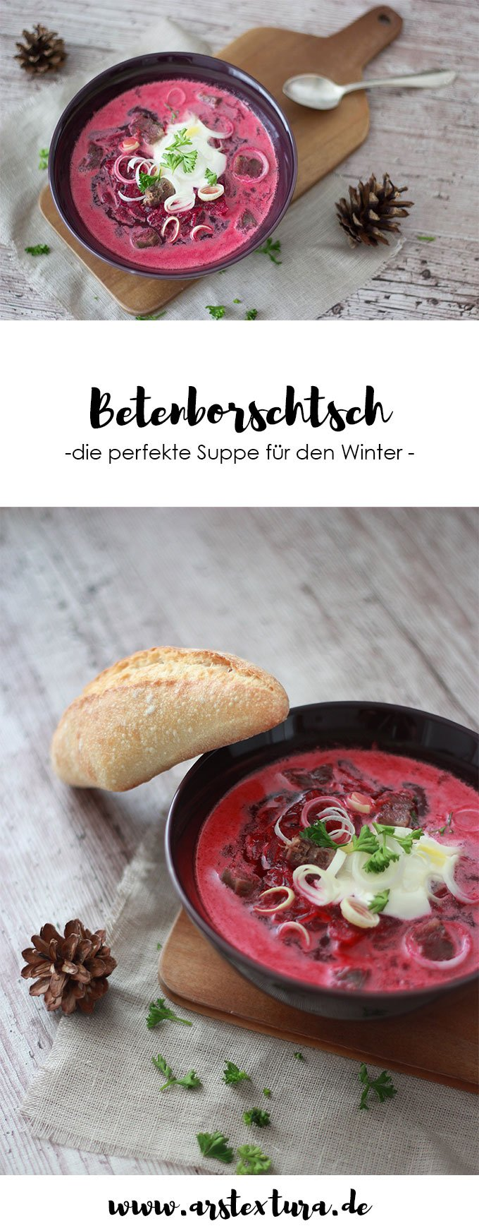 Betenborschtsch - Russische Borschtsch mit Roter Bete - ein perfektes Wintergericht