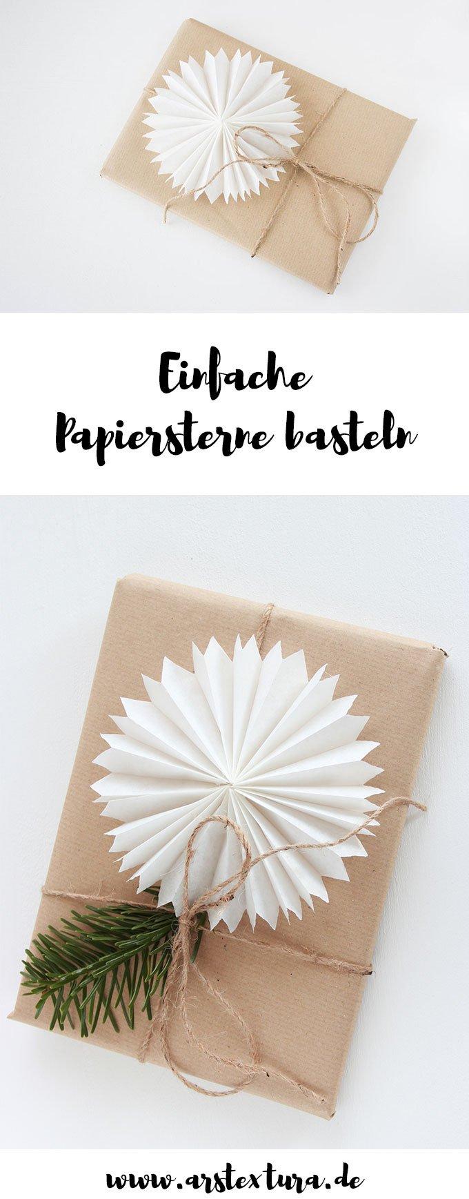 Einfache Papiersterne aus Brotpapier basteln