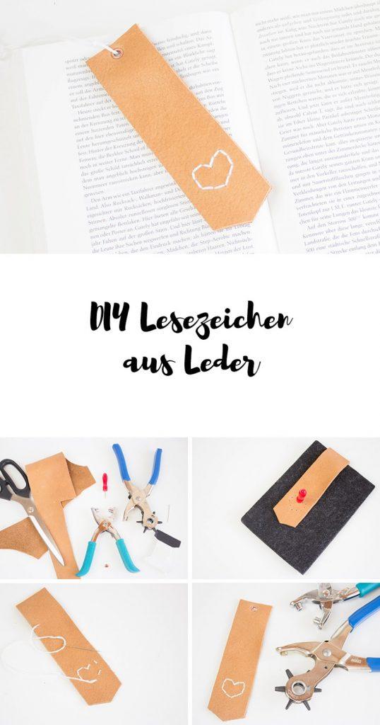 DIY Lesezeichen aus Leder basteln - ein perfektes DIY Weihnachtsgeschenk