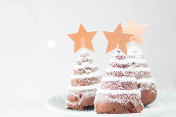 Weihnachtsrezept Tannenbaum Cupcakes