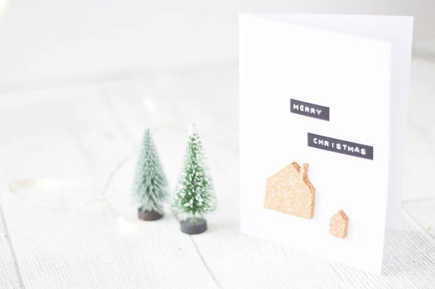 * 18 * Weihnachtskarten mit Kork basteln