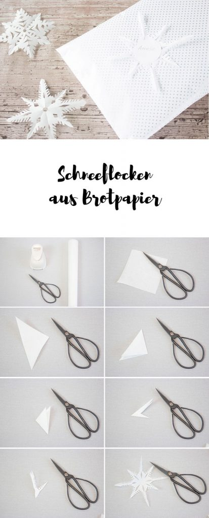 Sterne aus Brotpapier basteln - Geschenke einfach verzieren