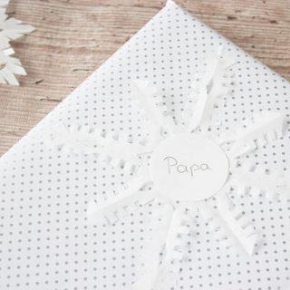 Schneeflocken DIY Geschenk