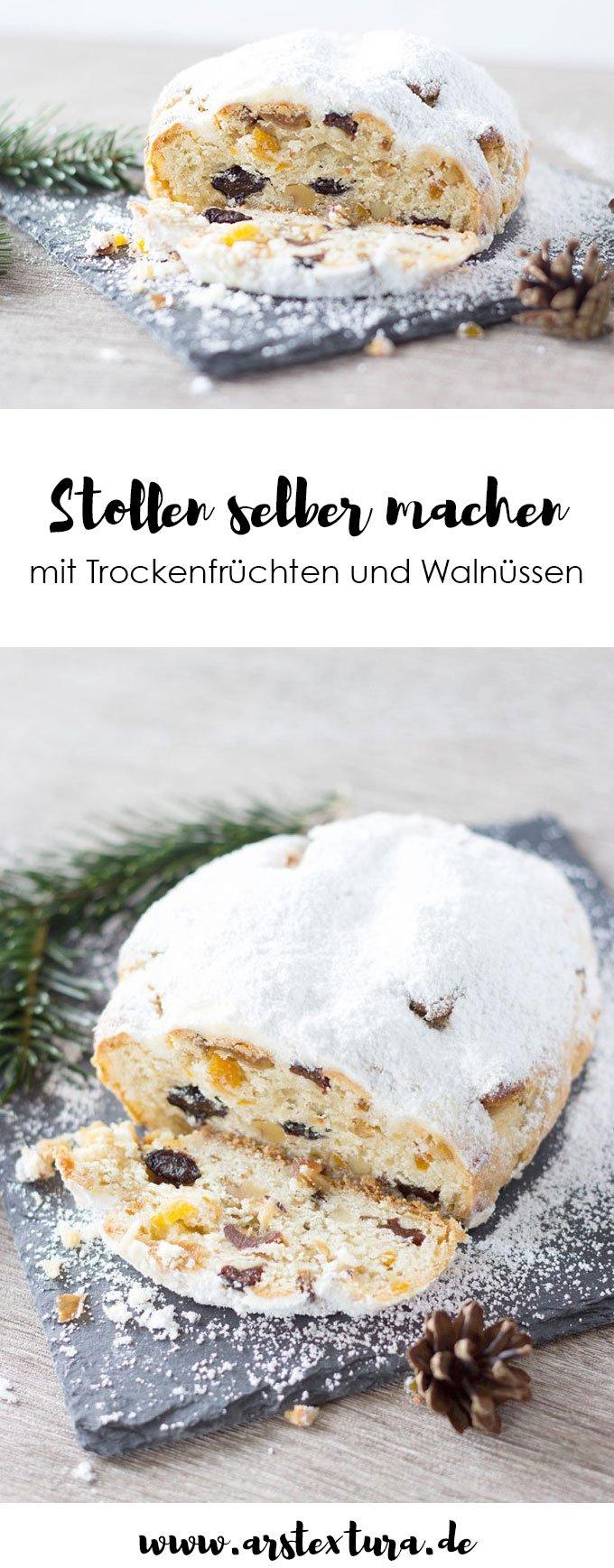Stollen selber machen | Rezept für den Advent #weihnachten #weihnachtsbäckerei