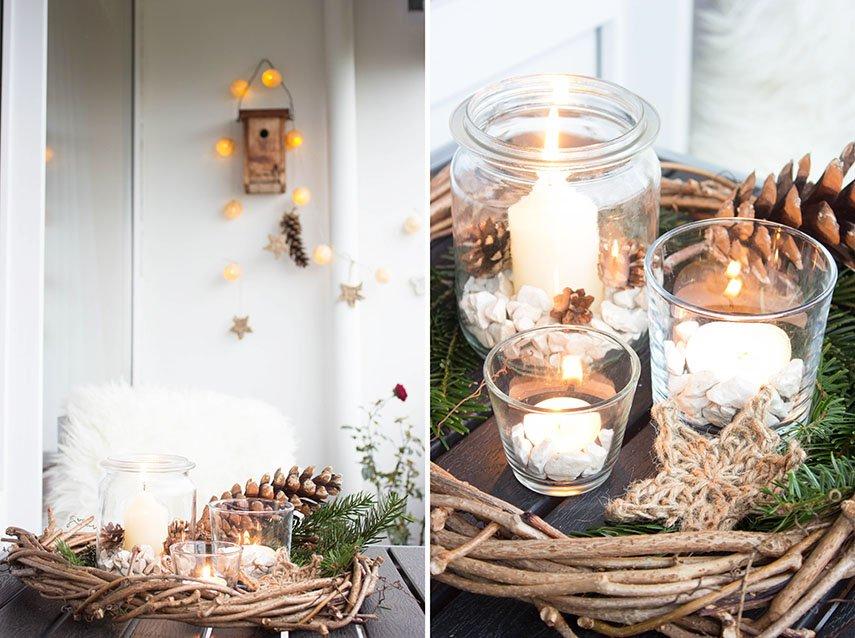 4 rustikale weihnachtsdeko f r den balkon ars textura diy blog food. Black Bedroom Furniture Sets. Home Design Ideas