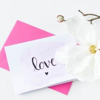 Karte zum Valentinstag basteln