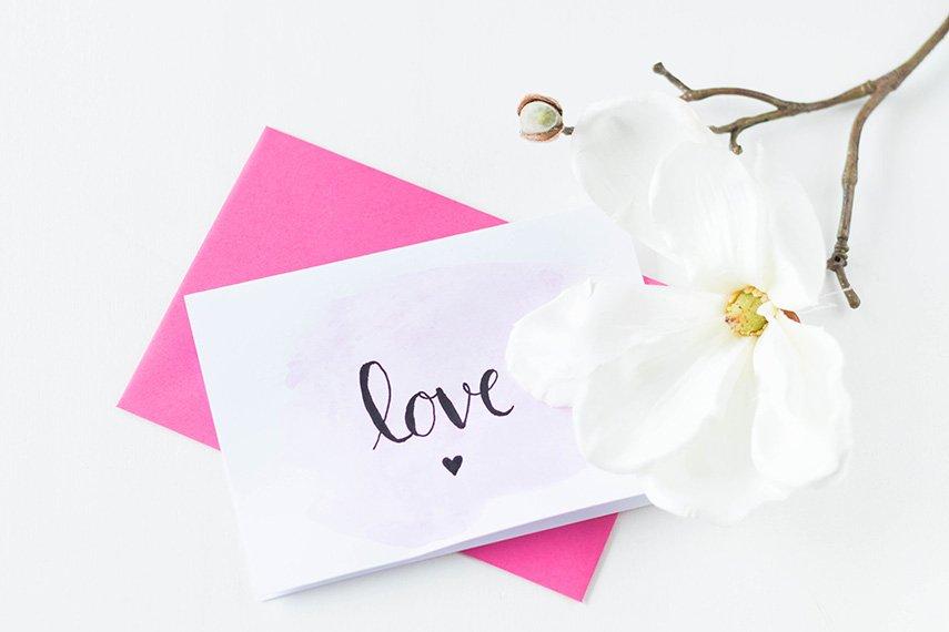 Post zum Valentinstag
