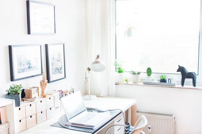 Arbeitszimmer mit Pflanzen
