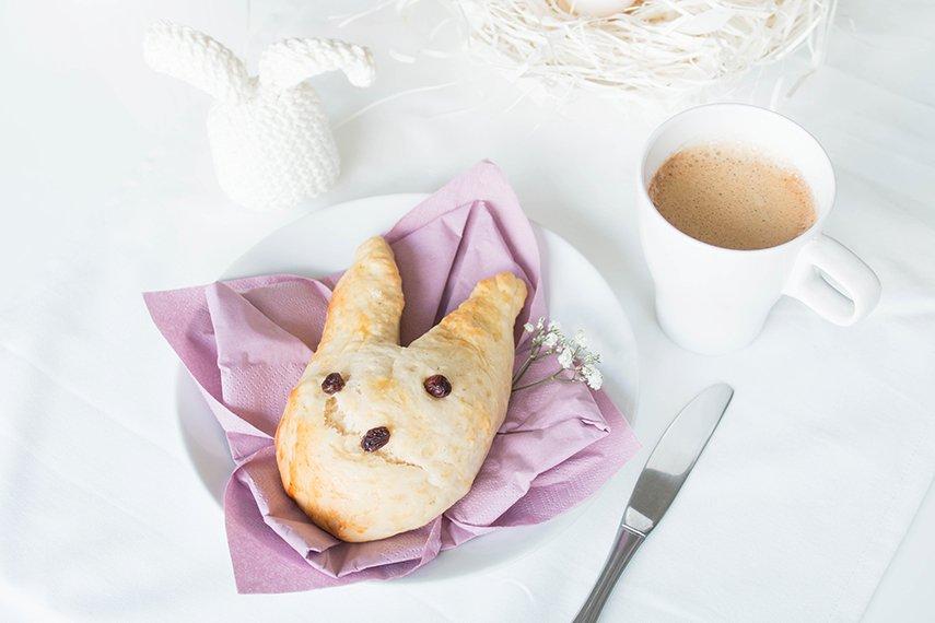 Gebackene Osterhasen zum Frühstück