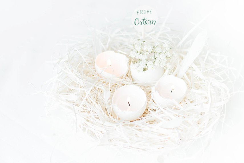 easter decoration egg candle
