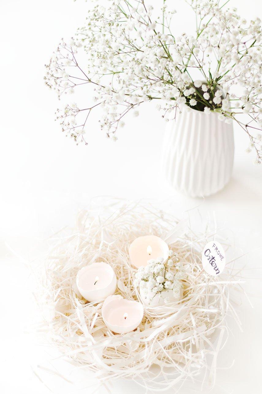 DIY Osternester - Ostereier Kerzen
